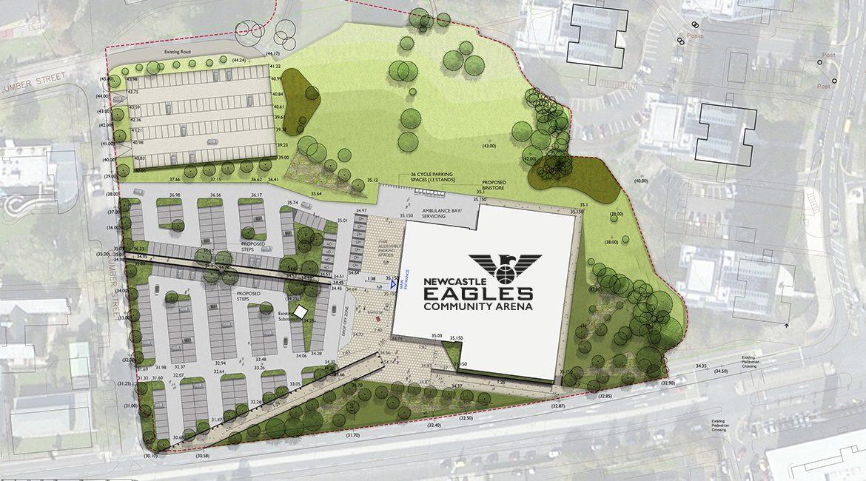 Proposed Eagles Community Arena site