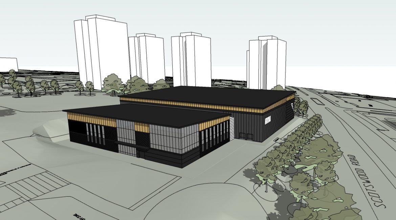 Architect's Impression of the Eagles Community Arena