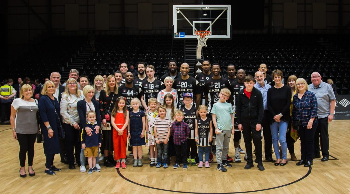 The Manning family with the team as we named our VIP hospitality room 'The Brian Manning Suite'