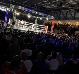 In May 2019 the first full-arena non-basketball sporting event to be hosted at the ECA was a knock-out with MTK boxing.